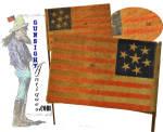 Click to view larger image of rare c.1861   7 Star CONFEDERATE SYMPATHIZER – Parade Flag   (Image2)