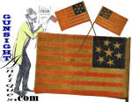 Click to view larger image of rare c.1861   7 Star CONFEDERATE SYMPATHIZER – Parade Flag   (Image3)