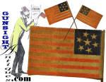 Click to view larger image of rare c.1861   7 Star CONFEDERATE SYMPATHIZER – Parade Flag   (Image3)