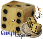 Tariff Marked � American Civil War vintage BONE DICE