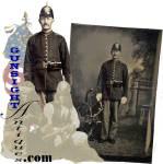 Click to view larger image of Indian Wars vintage U. S. Infantryman TINTYPE (Image1)