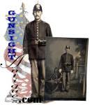 Click to view larger image of Indian Wars vintage U. S. Infantryman TINTYPE (Image2)