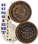 Click here to enlarge image and see more about item 4510: Civil War ARMY & NAVY Patriotic / 'HARD-TIME'  TOKEN