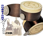 Click here to enlarge image and see more about item 4514: Victorian era POLISHED SATIN RIBBON – original unopened spool!