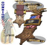 Click to view larger image of Civil War Vet. - GAR   MEMBERSHIP MEDAL (Image2)