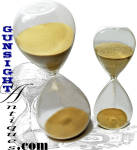 Click to view larger image of antique HOUR GLASS (Image1)