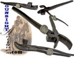 Civil War vintage combination HORSESHOE TOOL