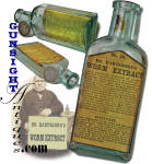 Click here to enlarge image and see more about item 14566: E. HARTSHORN & SON / ESTABLISHED 1850   -  Worm Extract – medicine bottle
