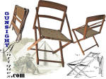 Civil War vintage folding CAMP CHAIR