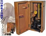 Click to view larger image of cased Victorian MICROSCOPE  (Image3)