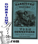 Click to view larger image of Civil War era WORM CURE APOTHECARY LABEL (Image2)