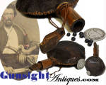 Click to view larger image of hand crafted Antique Shot Pouch (Image1)