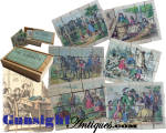 Click to view larger image of attic find Antique Wood Block PICTURE PUZZLE in CRANDALL'S Pat. 1867 box.  (Image2)