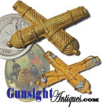 extra nice! original Civil War - 'False Bullion' ARTILLERY INSIGNIA