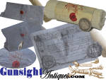 Click to view larger image of an original! Civil War era - BANDAGE ROLL & SPLINT (Image3)