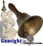 Click to view larger image of attractive antique BRONZE BELL (Image1)