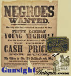 Click to view larger image of c.1859 - Petersburg, Virginia – SLAVE BROADSIDE (Image2)
