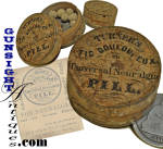 Click here to enlarge image and see more about item 5582: mid 1860s TURNER'S NEURALGIA PILL - BOX