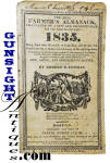 Click to view larger image of wallpaper bound 1835 OLD FARMER'S ALMANAC (Image2)