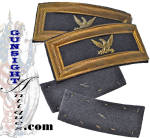 This outstanding pair of Smith Patent straps offer good evidence of age and originality with a pleasing natural patina yet remain in fine otherwise as <I>as new</I> condition. The eagle insignia are of silvered, die struck brass with wire fasteners. All unmistakably original and of the period, this set of desirable Colonel shoulder insignia fill set in nicely in any quality Civil War grouping.  <B>Buy with confidence! </B><I>  We are pleased to offer a <B><U>no questions asked</U> three day inspection with return as purchased on direct sales!</B> <I>Just send us a courtesy  e-mail to let us know your item will be returned per these provisions and your purchase price will be refunded accordingly.</I>  Thanks for visiting Gunsight Antiques!