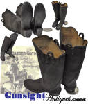 Click to view larger image of c. 1800s miniature - Salesman Sample Rubber Boots (Image2)