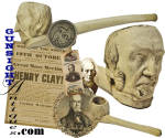 Click to view larger image of rare period Henry Clay FIGURAL TOBACCO PIPE (Image3)