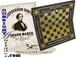 Click to view larger image of mid 1800s advertising checkerboard – SNOW & BROWN – MOBILE, ALABAMA  (Image2)