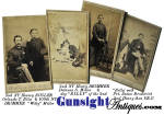 CDV group of 4 - 2nd N. Y. Heavy & 109th N. Y. Infantry - includes Bugler – 2 Drummers & Dog Billy