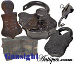 Click here to enlarge image and see more about item 5636: c. 1861 – 1865  D.M.&Co. working PADLOCK & KEY