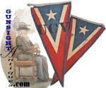 Click here to enlarge image and see more about item 5656: Late 1880s / early 1900s UNITED CONFEDERATE VETERAN (UCV) Banner