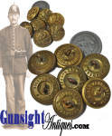 Click to view larger image of lot of 7 Indian War era Horstman EAGLE BUTTONS (Image2)
