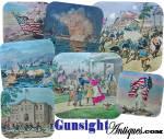 Click to view larger image of MAGIC LANTERN SLIDE  SHOW– Pilgrims – Rev. War – War of 1812 – Civil War & Spanish American War View (Image4)