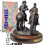 Click to view larger image of THE LAST MEETING of LEE & STONEWALL JACKSON - a bronze by Ron Tunison (Image2)