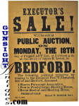 Click to view larger image of Original! 1884 Bedford, N. H. - AUCTION BROADSIDE (Image2)