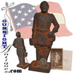 Click to view larger image of antique sand cast - Robert E. Lee DOORSTOP   (Image1)