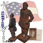 Click to view larger image of antique sand cast - Robert E. Lee DOORSTOP   (Image2)