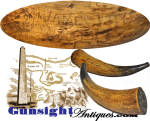 Click to view larger image of Revolutionary War relic-  June 17, 1775 - BUNKER HILL – POWDER HORN (Image2)