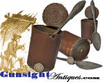 original! Civil War vintage TIN CAN & SPOON
