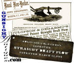 Click to view larger image of Large period agricultural stencil – Patent 1861 IMPROVED  STRAIGHT DRAFT PLOW   (Image1)