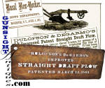 Click to view larger image of Large period agricultural stencil – Patent 1861 IMPROVED  STRAIGHT DRAFT PLOW   (Image2)