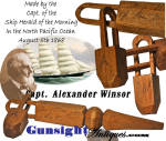Click to view larger image of c. 1868 CARVED WHIMSY -  of Capt. Alexander Winsor / Clipper Ship Herald of the Morning (Image3)