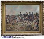 Click to view larger image of Napoleon Bonaparte & The Battle of Waterloo -OIL PAINTING (Image2)