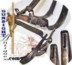 Click to view larger image of Civil War era TELEGRAPH CLIMBING IRONS  (Image2)