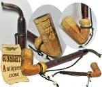 Click to view larger image of Civil War era - gaming theme – Tobacco Pipe  (Image2)