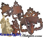 Click to view larger image of 19th century carved walnut – MASONIC WALL SHELF (Image2)