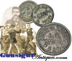 Click here to enlarge image and see more about item 5927: Hotel Glenwood (Colorado home of Dock Holliday) - BAR TOKEN