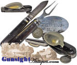 Click to view larger image of extra nice!  folding Knife, Fork & Spoon – MESS SET (Image2)