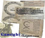 July 16 1864 Scientific American   -   CUSTER'S HORSE-SHOE Patent