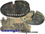 Click here to enlarge image and see more about item 5950: WILDERNESS - Civil War BATTLEFIELD PICKUP Cartridge Box Plate
