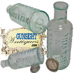 Click to view larger image of  Civil War vintage MUSTANG LINIMENT - BOTTLE   (Image1)